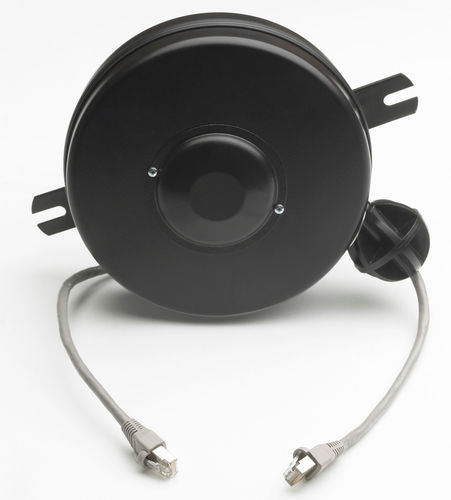 data cable reel / self-retracting / fully-enclosed