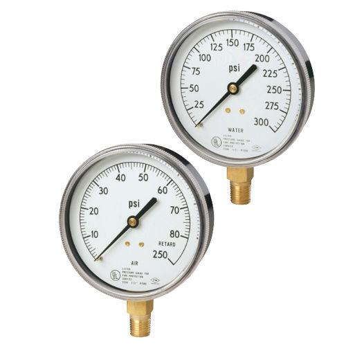 dial pressure gauge / Bourdon tube / process / for air