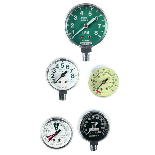 analog pressure gauge / Bourdon tube / medical / OEM