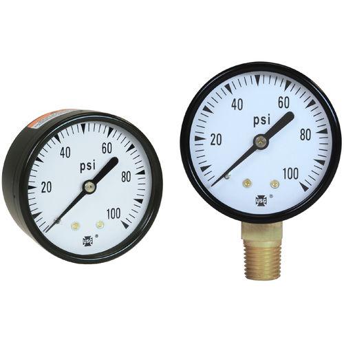 analog pressure gauge / Bourdon tube / for vacuum / brass