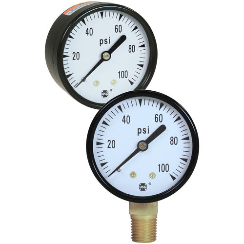 analog pressure gauge / Bourdon tube / process / test