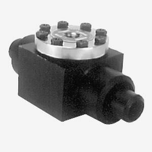 diaphragm seal with flange connection / for pressure gauges / process