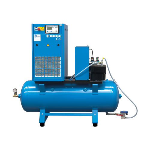 air compressor / stationary / electrically-powered / screw