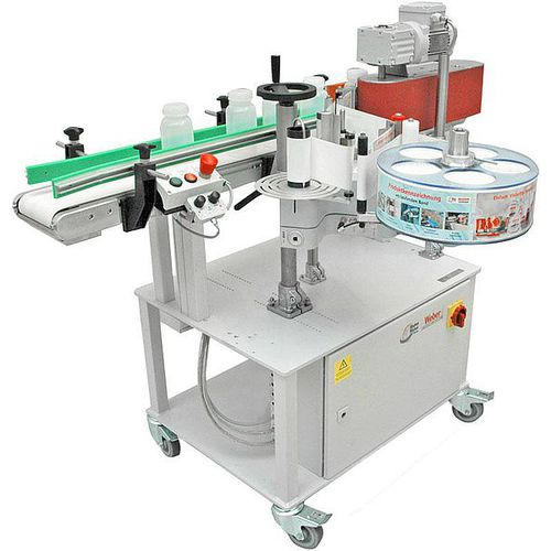 automatic labeler / for self-adhesive labels / in-line / side