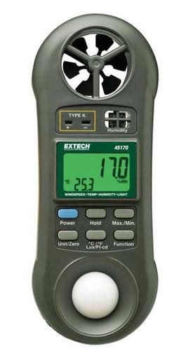 multi-function meter: temperature, air velocity, relative humidity and light meter