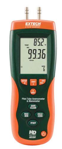 pitot tube anemometer / digital / portable
