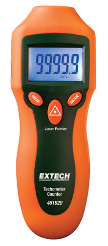 laser tachometer / handheld / with LCD display / robust