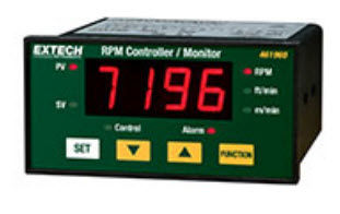 photoelectric tachometer / panel-mount / with LED display / 4-digit