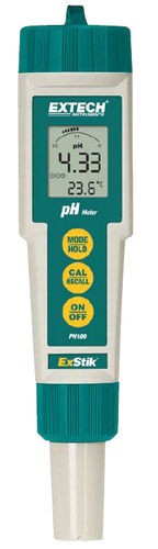portable pH meter / process / with LCD display / with thermometer