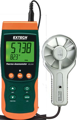 vane thermo-anemometer / portable