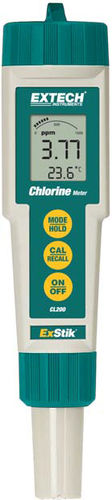 chlorine analyzer / water / temperature / portable