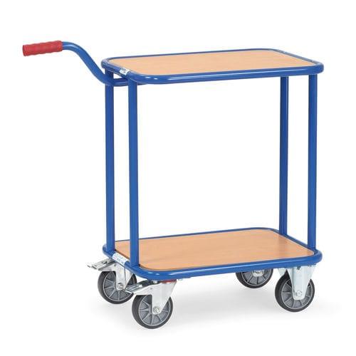 transport cart / steel / 2 levels / platform