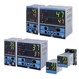temperature indicator controller / digital / with analog output / compact