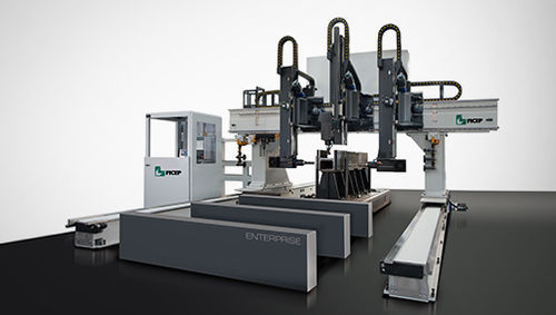 3-spindle drilling line / CNC / for structural profiles / beam