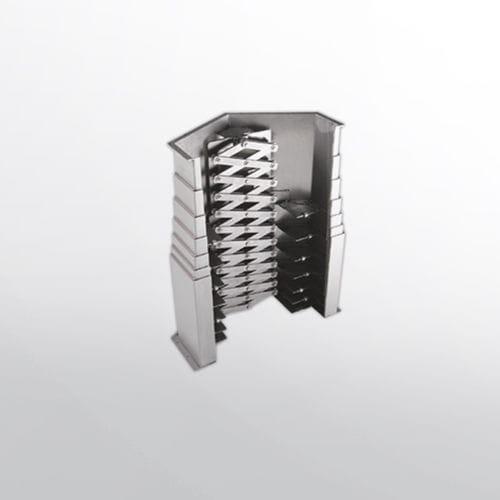 horizontal telescopic cover / steel / for machine tools