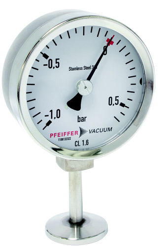 dial pressure gauge / Bourdon tube / process / corrosion-resistant