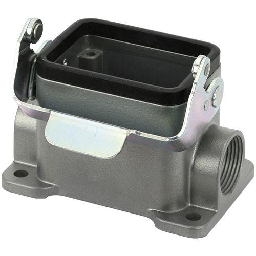 electric connector hood / plastic / metal