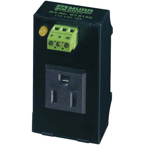 DIN rail electrical socket / built-in