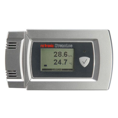 temperature and humidity data-logger / with PC interface / with screen / for logistics