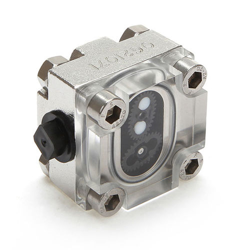 oval gear flow meter / for water / compact / stainless steel