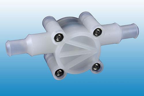 Pelton wheel turbine flow meter / for water / plastic / in-line