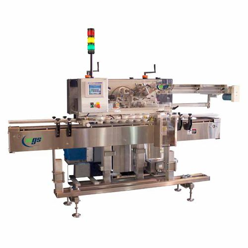 automatic labelling machine / hot-melt glue / for the pharmaceutical industry