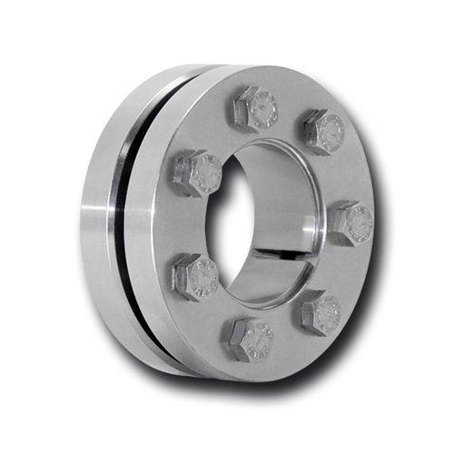 shrink disc coupling / for shafts / for high torque / flange