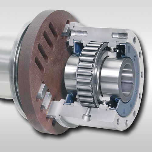 one-way clutch with coupling / full-face / with internal bearings / backstop