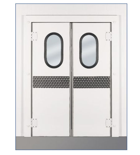 swing door / for the food industry / for cold storage / insulated