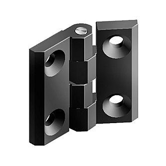 metal hinge / corner / screw-in / 180°