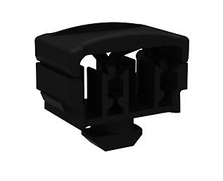 snap-on cable tie mount