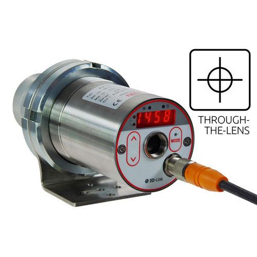 digital infrared pyrometer / stationary / IO-Link / for flue gas
