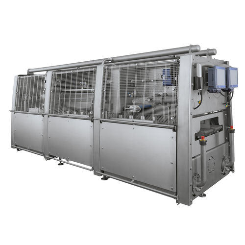 linear array tray sealer / automatic / with modified atmosphere packaging / compact