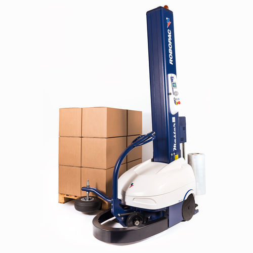 turntable wrapping robot / semi-automatic / pallet / mobile