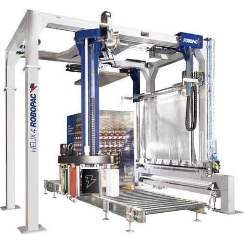 rotary arm stretch wrapper / automatic / for industrial applications / pallet
