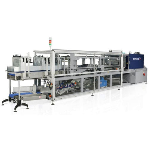 automatic shrink wrapping machine / for heat-shrink films / with sealing bar / with shrink tunnel