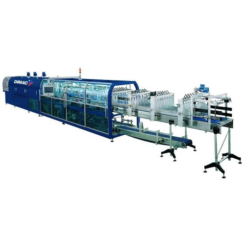 automatic shrink wrapping machine / for trays / for bottles / for heat-shrink films