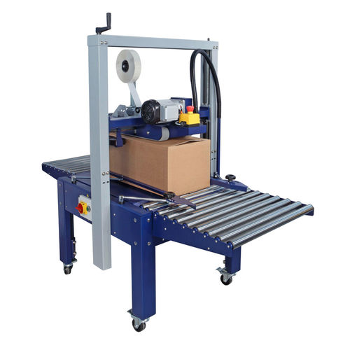 double-flap case sealer / adhesive tape / semi-automatic