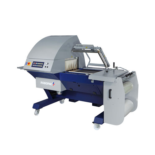 semi-automatic shrink wrapping machine / with shrink tunnel / with sealing bar
