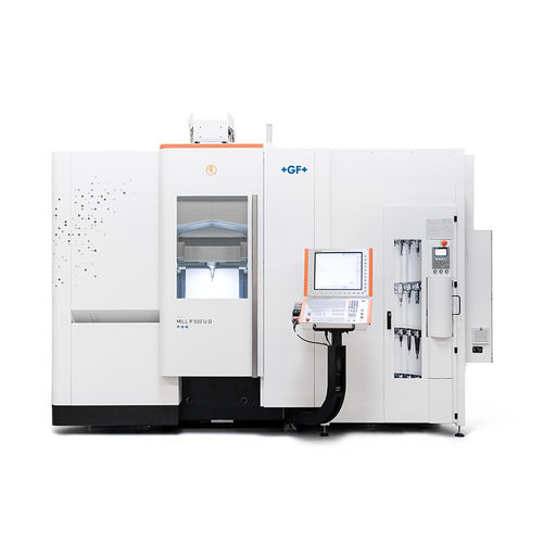 5-axis machining center / vertical / gantry / with rotary table