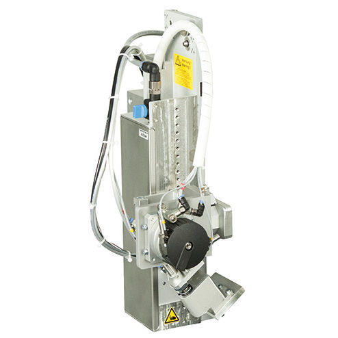 automatic label applicator / for self-adhesive labels / side