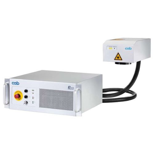 pulsed fiber laser marking device / for metal / plastics / compact