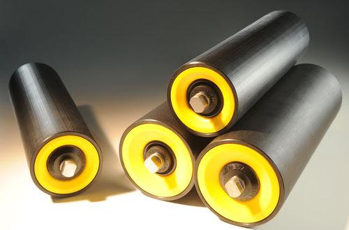 slip-on conveyor roller / thermoplastic / abrasion-resistant