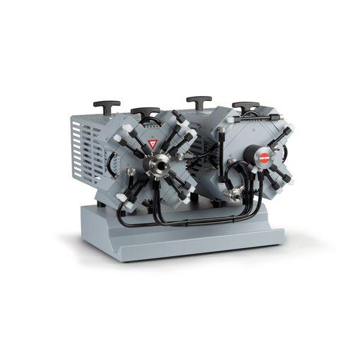 diaphragm vacuum pump / oil-free / four-stage / chemical-resistant