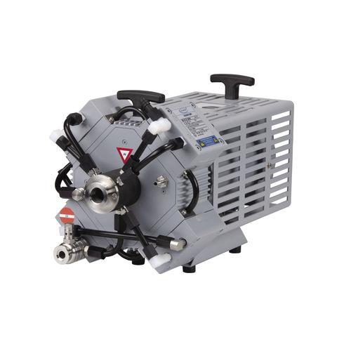 diaphragm vacuum pump / oil-free / three-stage / chemical-resistant