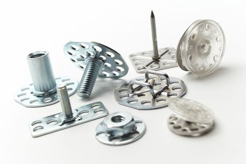 threaded insert / stainless steel / round / molded-in