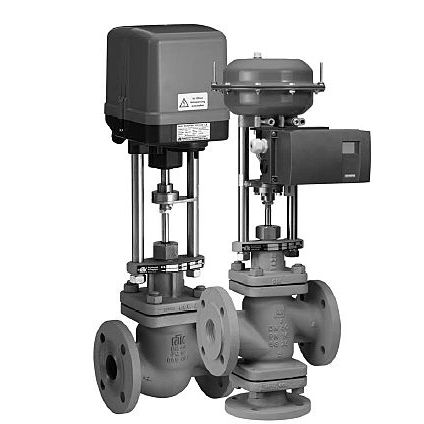 conical plug valve / pneumatically-operated / regulating / for gas