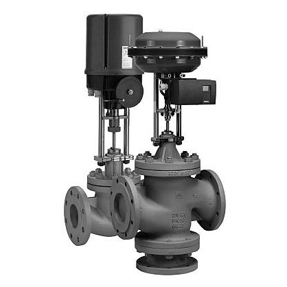 conical plug valve / electrically-operated / regulating / for gas