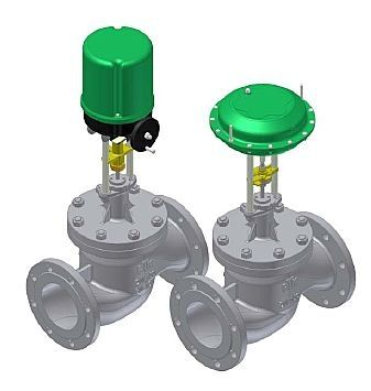 globe valve / electric / for gas / balancing