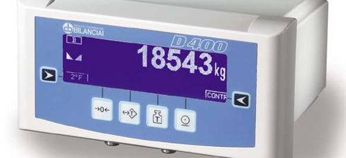 weighing terminal with LCD graphic display / rack-mount / benchtop / dust-proof